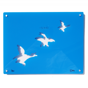 3 Ducks - Signed limited edition Acrylic Wall Art - Blue